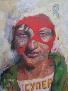 Игорь Тишин      'Супер 8', из серии 'Красная Шапочка'     2008     200x150 cm     Х., м.