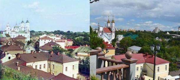 Фотосравнение. Слева: снимок Сергея Прокудина-Горского. Автор современного фото В. Ратников, prokudin-gorsky.org