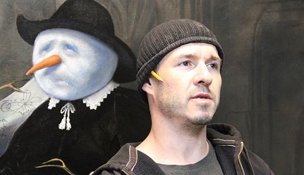 Автор картины «Лежачего не бьют»: долго рисовал шаржи и устал от лиц