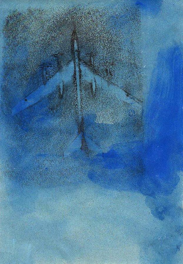 """Марк Фридвальский """"Воздух IV"""", смешанная техника, 21х29,7. 2007. Австрия"""