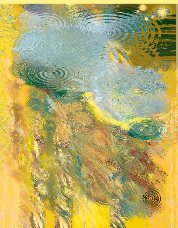 """Мариус Данюс """"Отражение"""". Цифровая печать, шелк. 2007.160х140. Литва"""