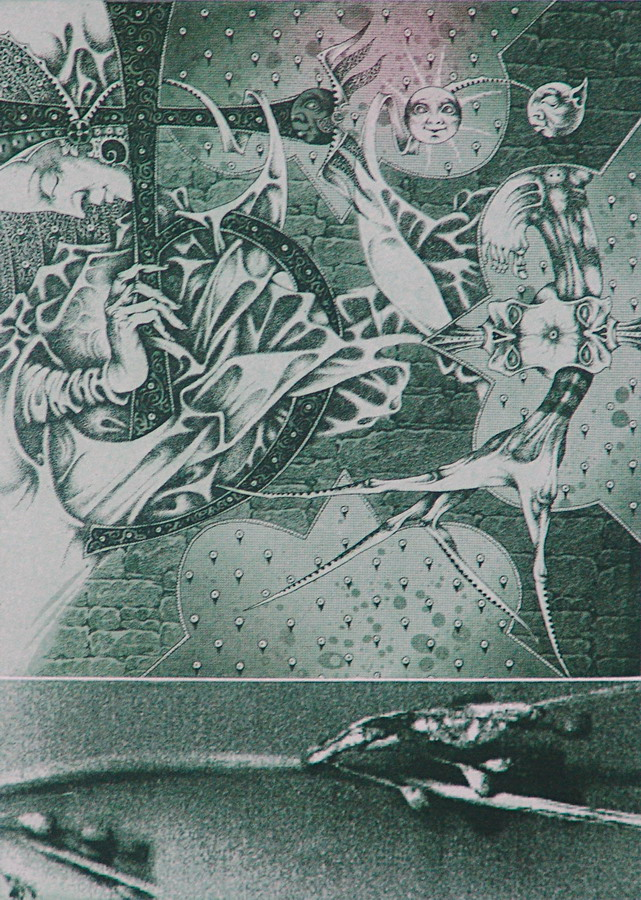 "Юрий Яковенко ""Свинец"", офорт, фотополимер. 21х14,5. 2007. Беларусь"