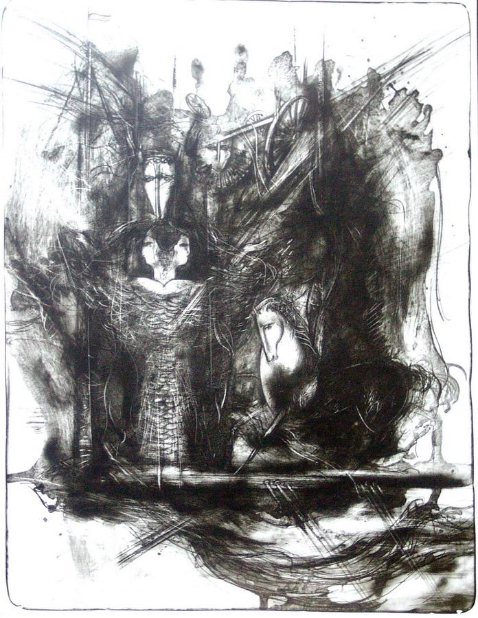 "Камиль Камал ""Корабль сказок"". Литография. 50х66, 1997. Беларусь"
