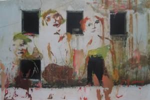 Игорь Тишин   Из серии Дороги Алисы    2008     50x75 cm     Масло на фотографии