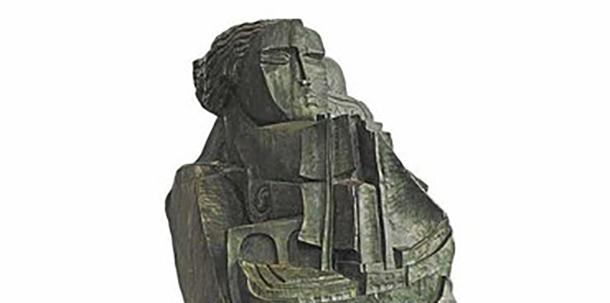В Минске установили скульптуру Осипа Цадкина «Носитель даров»